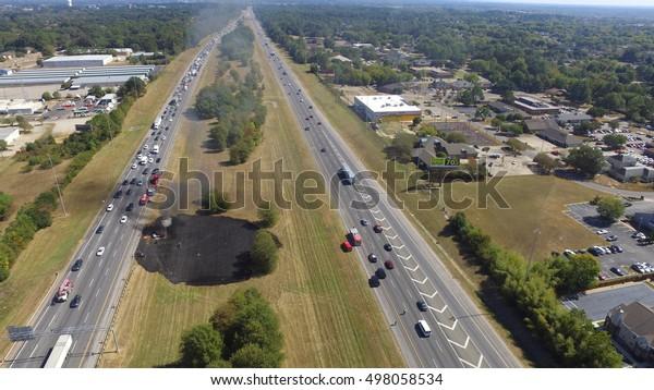 Car Crash 1230pm 101316 Montgomery Alabama Stock Photo (Edit