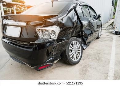 Car crash accident damaged background