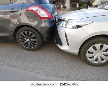 car crash accident on the road, car accident for insurance claim.