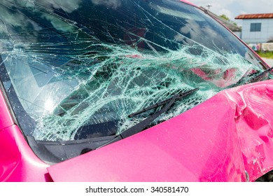 car crash accident on street damaged automobiles
