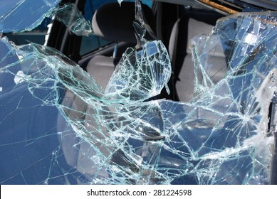 Car crash - broken glass