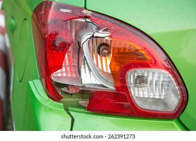 Car crash, Broken  the rear lights.