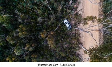 Car crash off dirt road