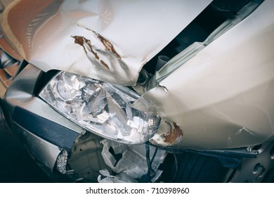 Car crashed detail