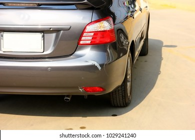 car damage ,accident on the road make damaged car owner