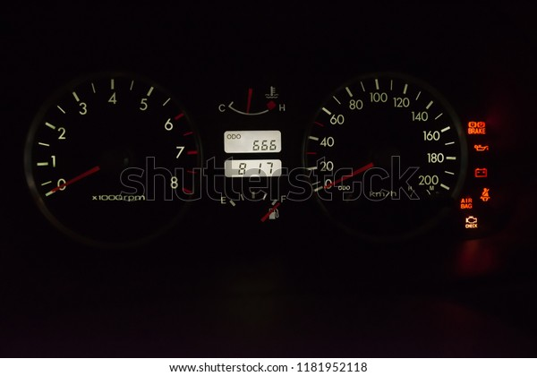 Car Dashboard Emergency Stop Air Bag Stock Photo (Edit Now