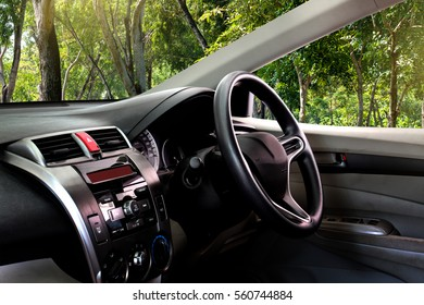 car dashboard over outdoor,parks
