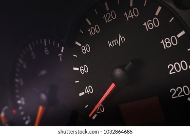 car dashboard speed and fuel
