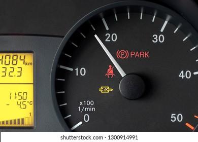 car dashboard, tachometer