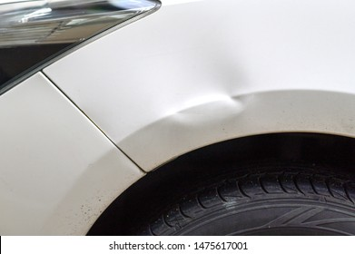 Car dents caused by accidents