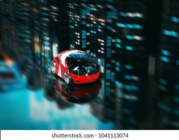 Car design - 3D Illustration