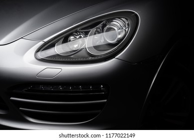 Car detailing series: Clean headlights of gray SUV