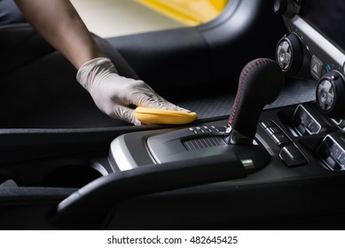 Car detailing series : Cleaning car interior - Shutterstock ID 482645425