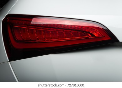 Car detailing series: Taillight of clean white car