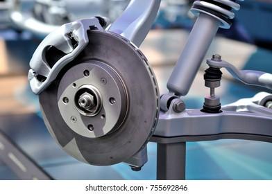 Car disc brake with caliper.