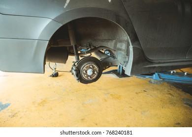 Car disc brake without wheels