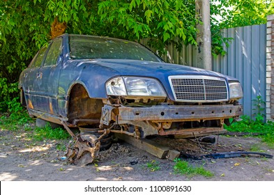 car dismantled for spare parts
