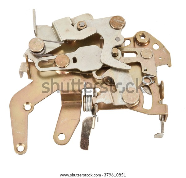 Car Door Closing Mechanism Isolated On Stock Photo (Edit Now