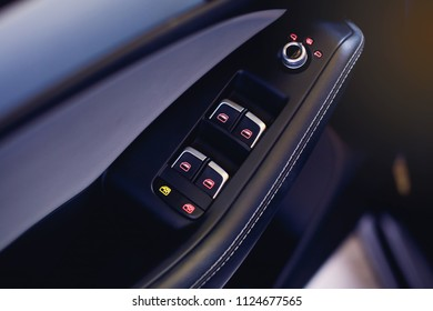 car door handles and electric detail, central locking