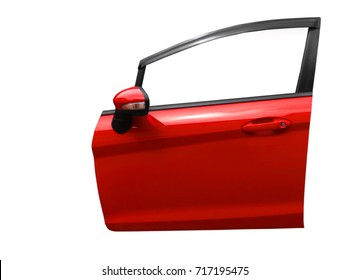 car door isolated on white background with clip path