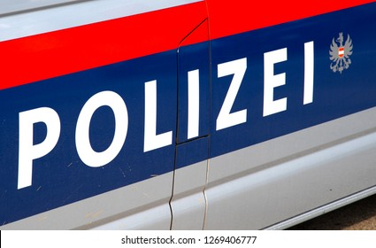 Car door lettering police austria