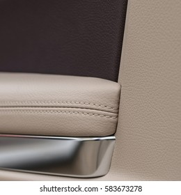 Car door panel. Interior detail.