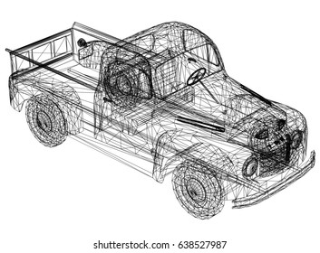 Car drawing – 3D perspective
