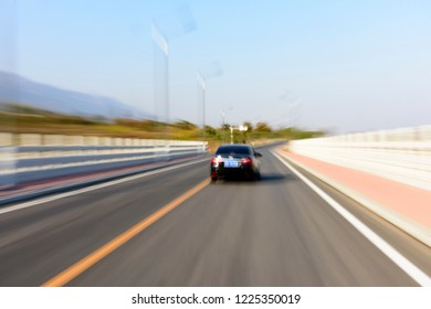 a car driving on the road