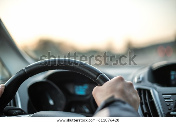 Car driving.Travel and freedom concept