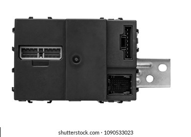car electronics control unit on a white background