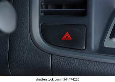 Car emergency button on the black panel