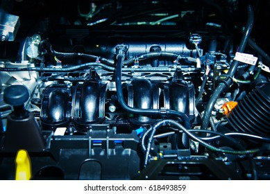 The car engine, Engine, Car engine background