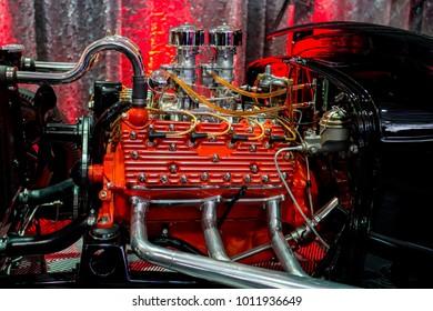 Car engine close up