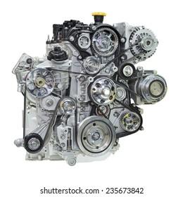 Car engine. Concept of modern car engine