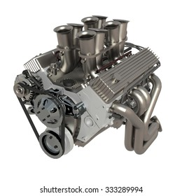 Car engine. Concept of modern car engine isolated.