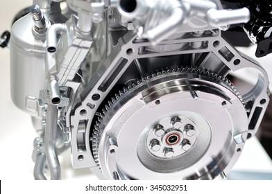 Car engine flywheel.
