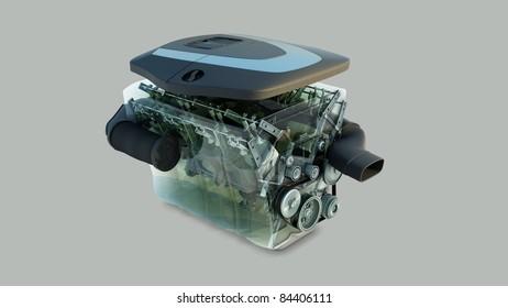 car engine isolated