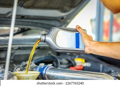 Car Engine Oil change, Increase the efficiency of the car machine.