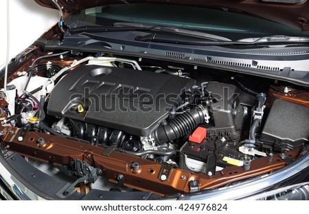 Car Engine Room Show All Parts Stock Photo Edit Now 424976824
