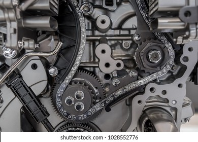 Car engine timing chain system