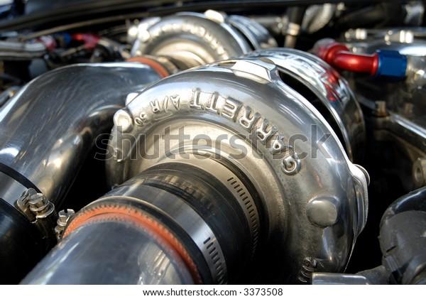 Car Engine Turbo Detail
