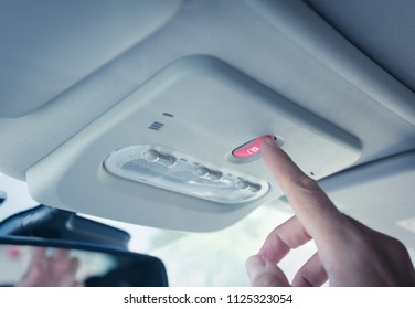 Car equiped with an eCall system. European initiative intended to bring rapid assistance to motorists involved in a collision anywhere in the European Union. It will be mandatory in all new cars