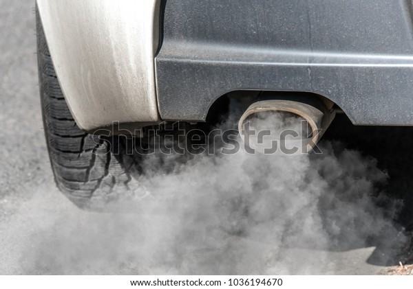 Car Exhaust Pipe Coming Out Diesel Stock Photo Edit Now 1036194670