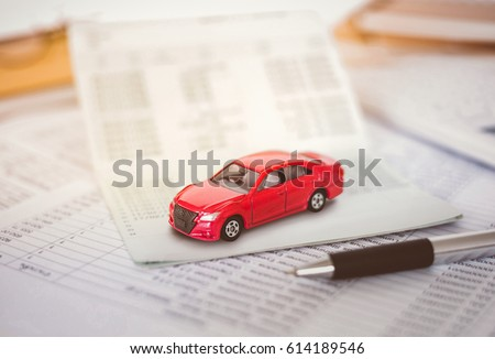 car expenses calculator payments costs paper stock photo edit now