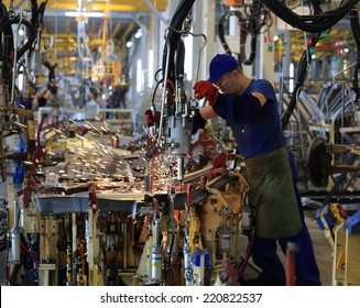 Car factory Avtotor on September 16, 2014 in Kaliningrad, Russia.
