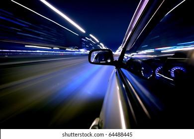 car fast drive