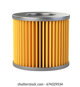 Car filter close-up isolated on a white background. 3d illustration high resolution.