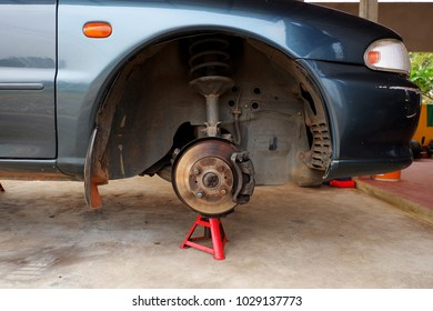 The car was fixed and changed wheels