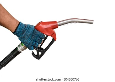 Car fuel in petrol pumps Isolated