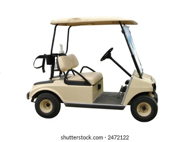 car of golf on a white background